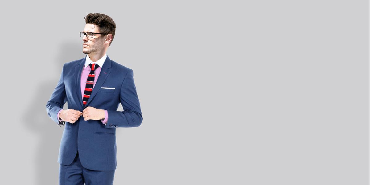 Turkish Blue Wool Suit- view-2