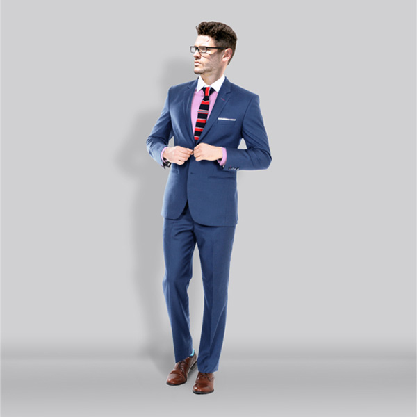 Turkish Blue Wool Suit-mbview-1
