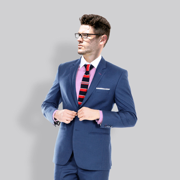 Turkish Blue Wool Suit-mbview-2