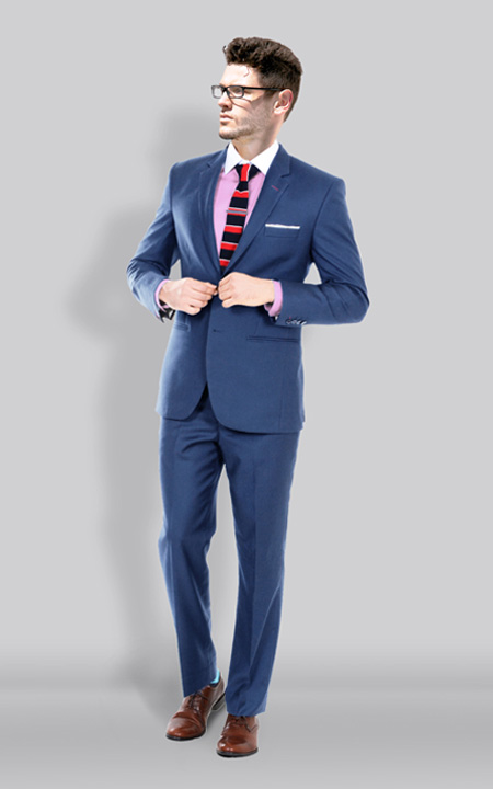 Turkish Blue Wool Suit