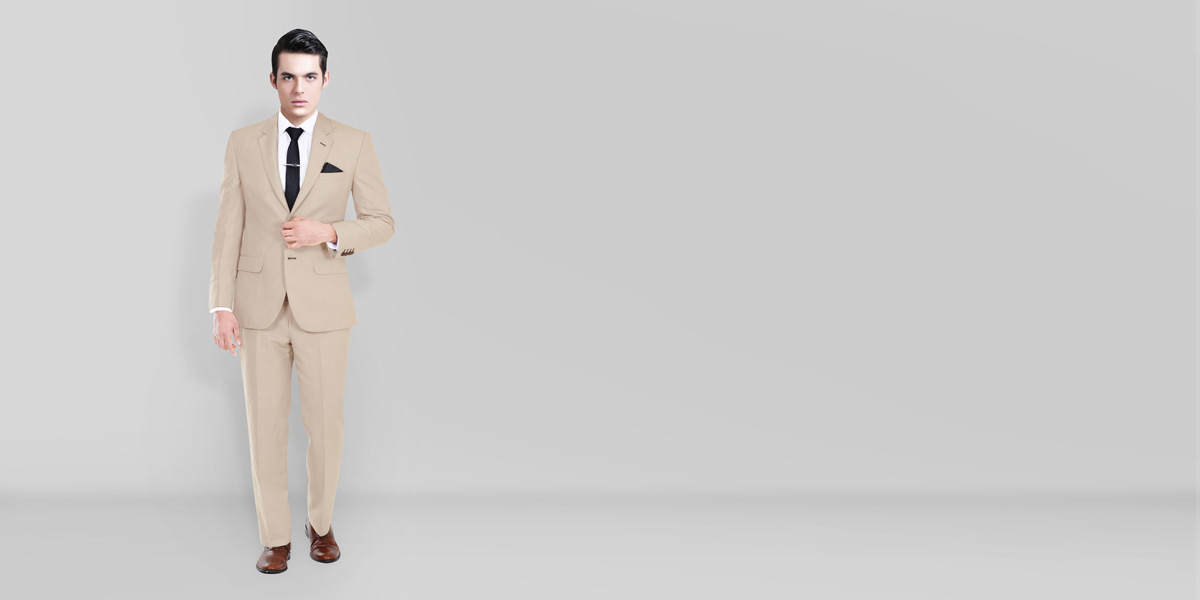 Sand Brown Wool Suit- view-1