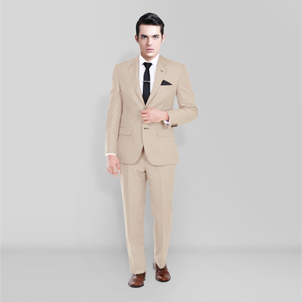 Sand Brown Wool Suit-mbview-1
