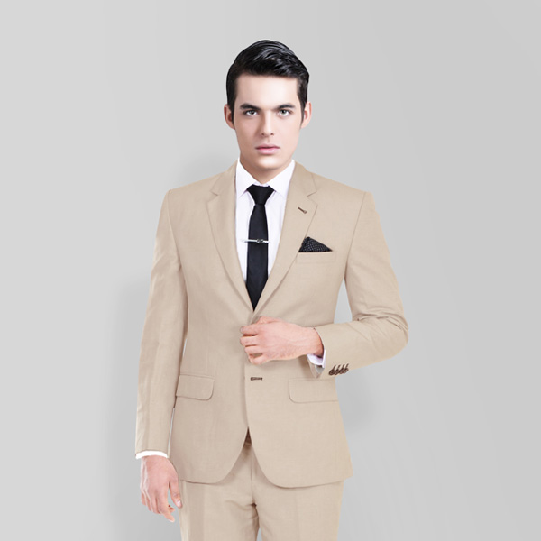 Sand Brown Wool Suit-mbview-2