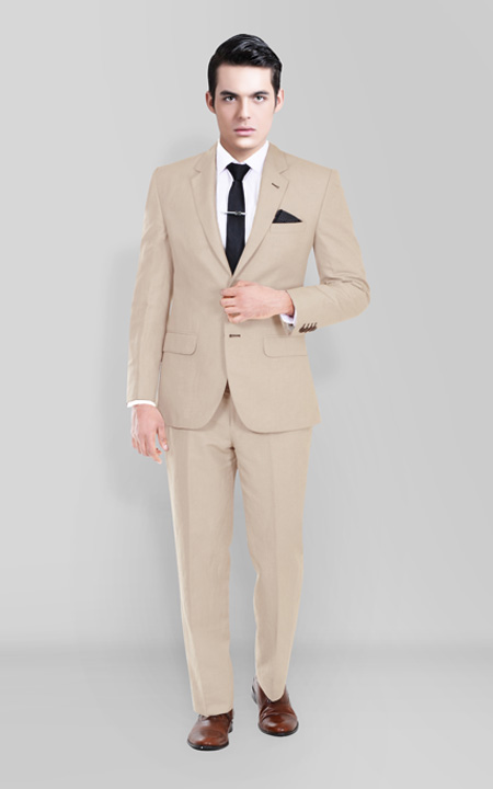 Sand Brown Wool Suit