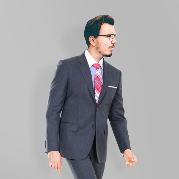 130s Grey Herringbone Suit-mbview-2
