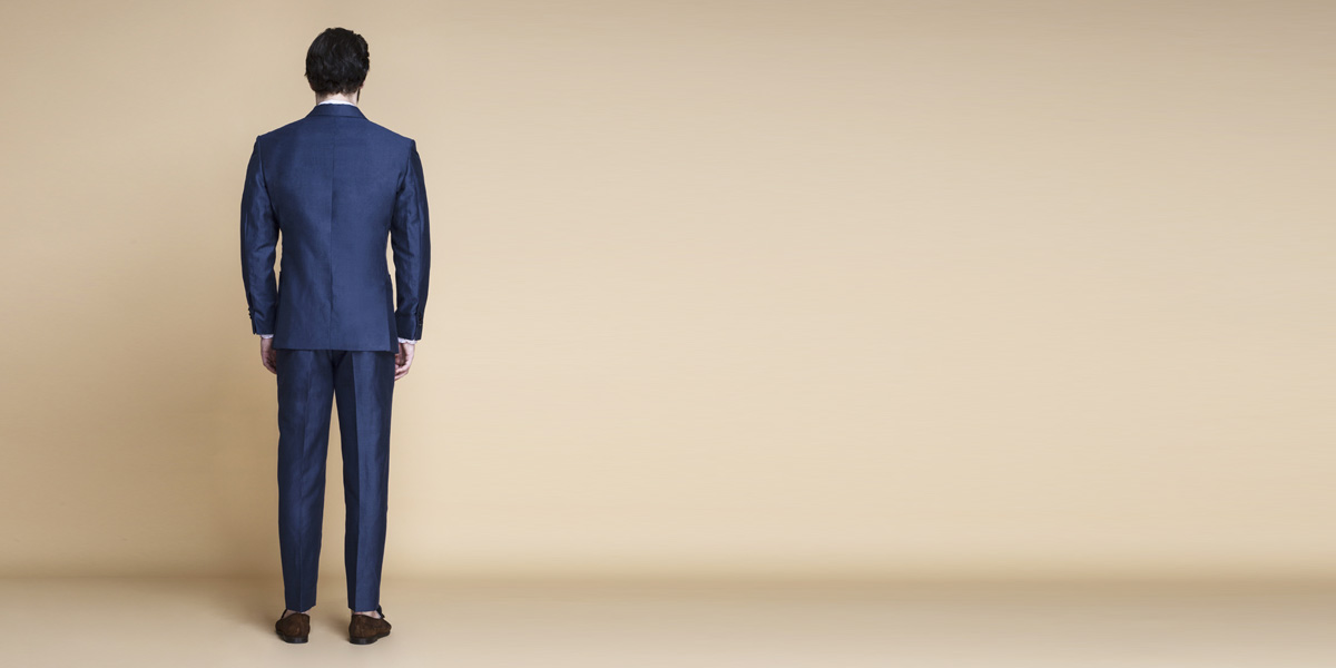 Soho Blue Linen Wool Suit- view-2