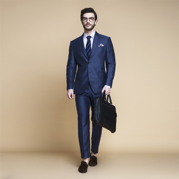 Soho Blue Linen Wool Suit-mbview-1