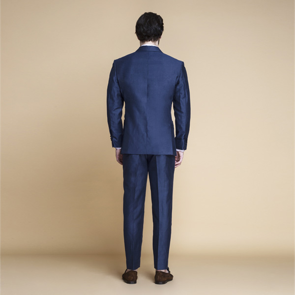 Soho Blue Linen Wool Suit-mbview-2