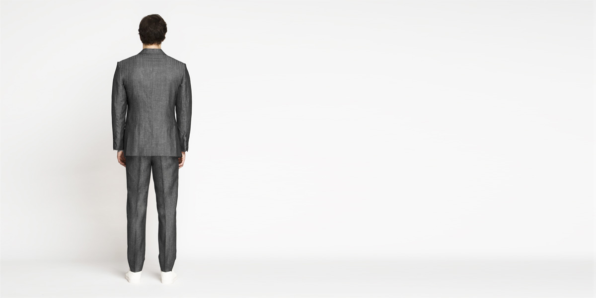 Napoli Grey Linen Wool Suit- view-2
