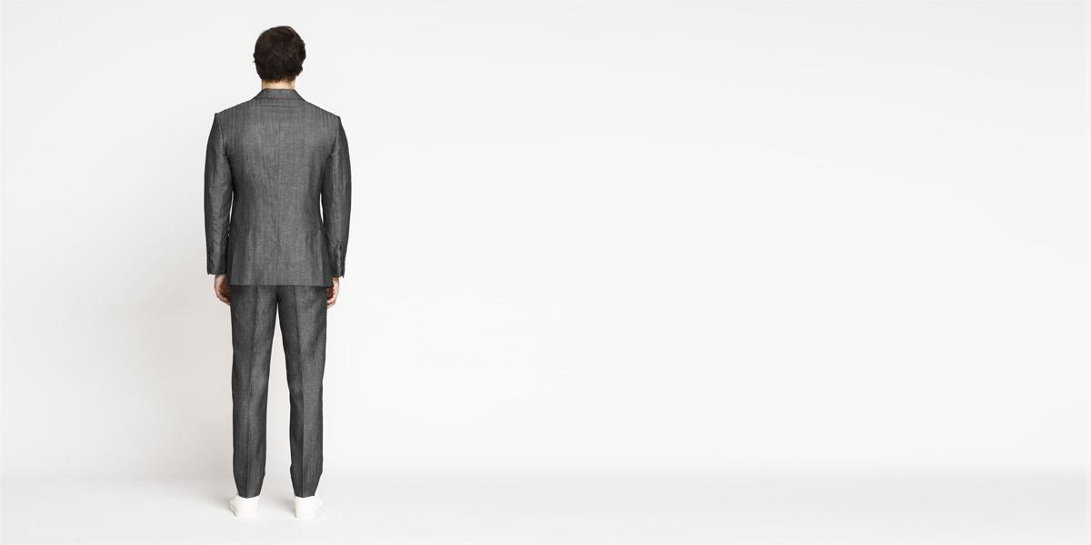 Napoli Grey Linen Wool Suit- view-2