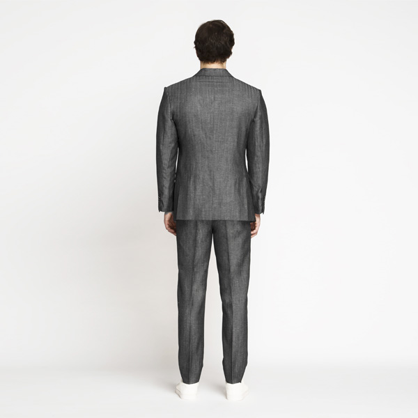 Napoli Grey Linen Wool Suit-mbview-2