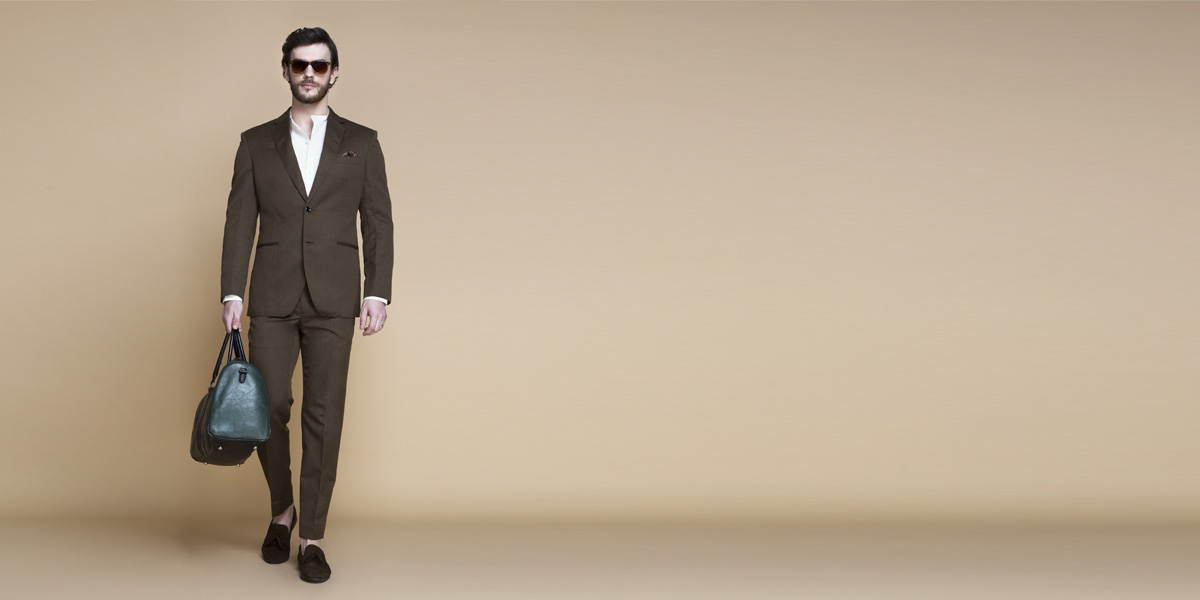 Siena Coffee Brown Linen Suit- view-1