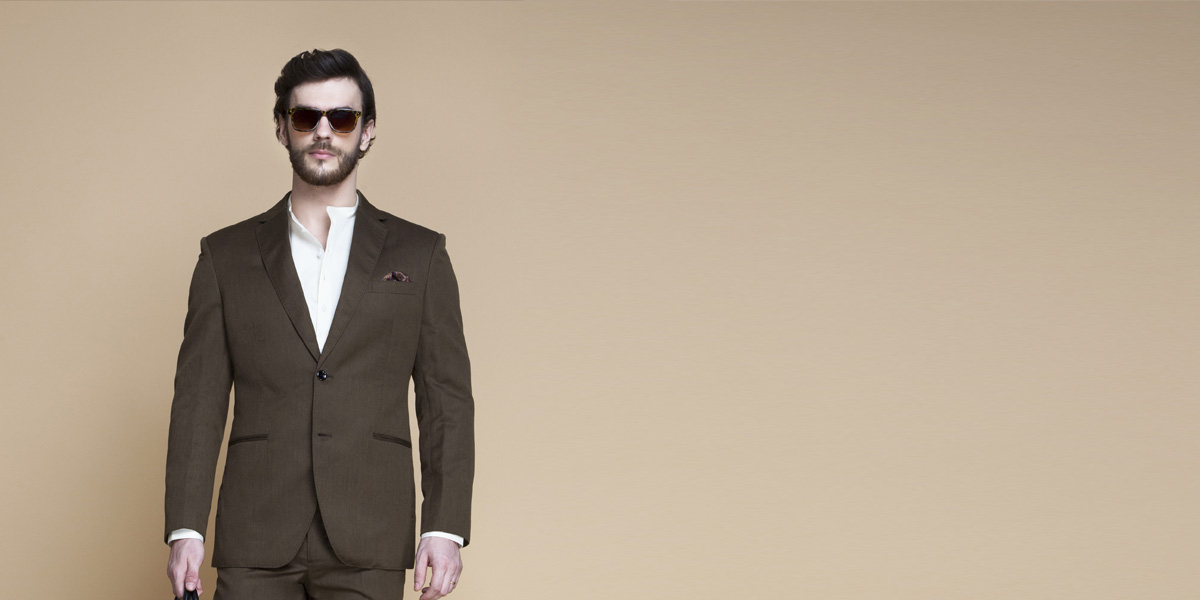 Siena Coffee Brown Linen Suit- view-3