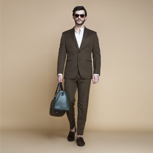 Siena Coffee Brown Linen Suit-mbview-1