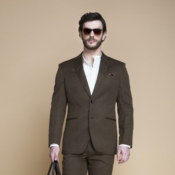 Siena Coffee Brown Linen Suit-mbview-3