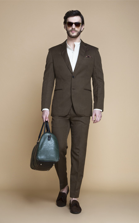 Siena Coffee Brown Linen Suit