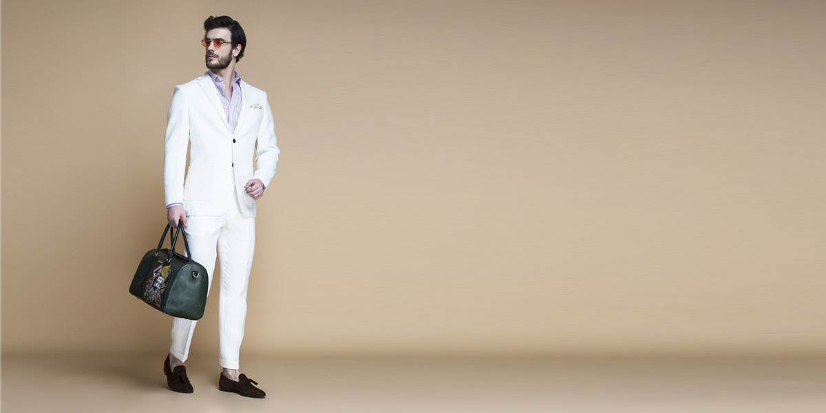 Cardiff Off White Linen Suit- view-1
