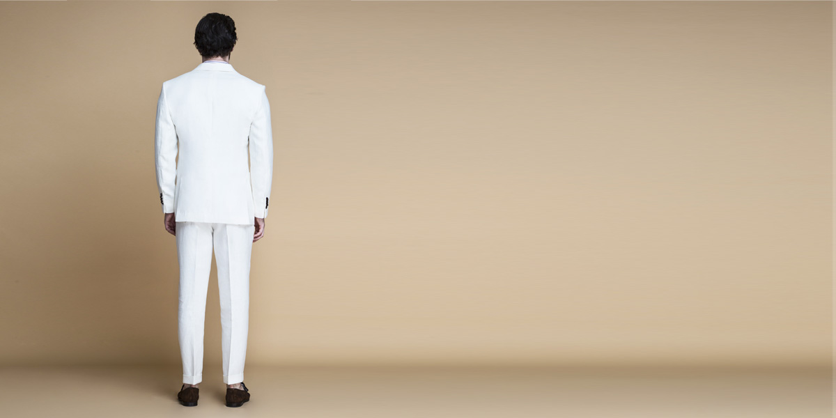 Cardiff Off White Linen Suit- view-2