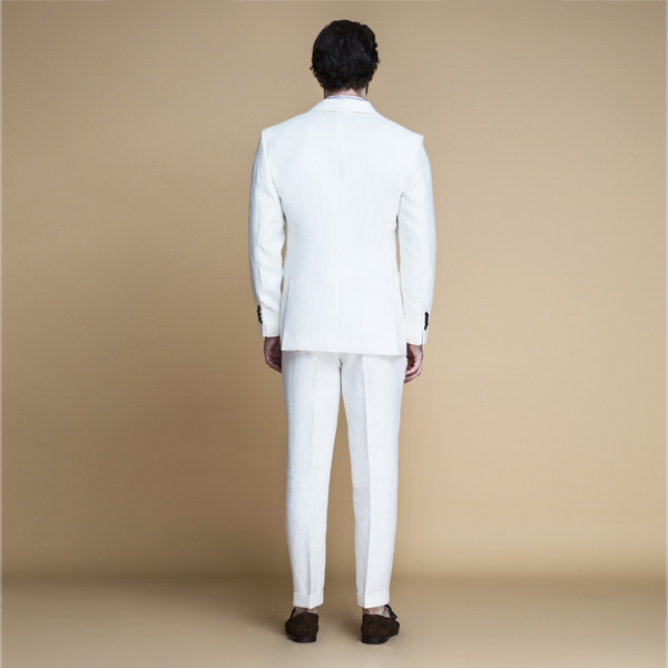 Cardiff Off White Linen Suit-mbview-2