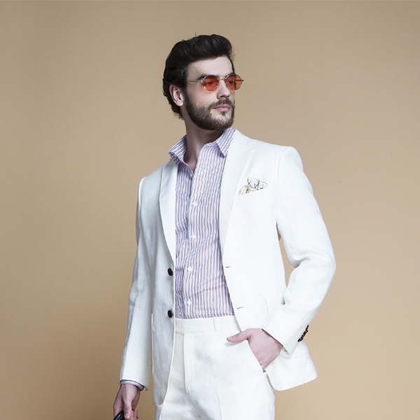 Cardiff Off White Linen Suit-mbview-3