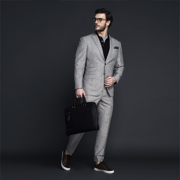 Oxford Grey Linen Checks Suit-mbview-1