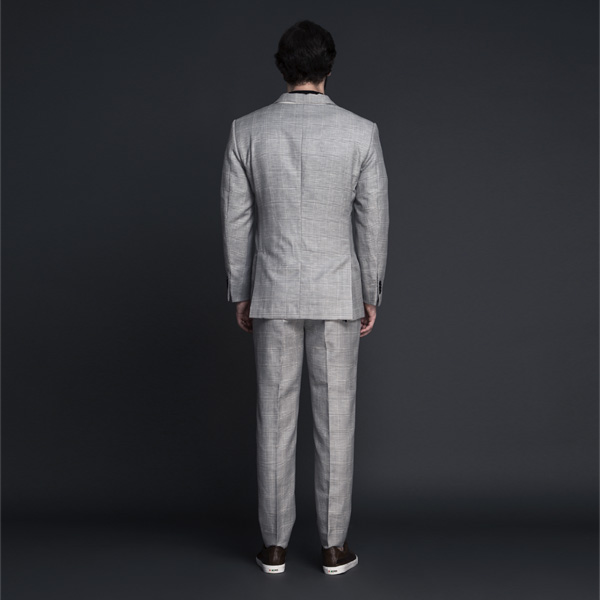 Oxford Grey Linen Checks Suit-mbview-2