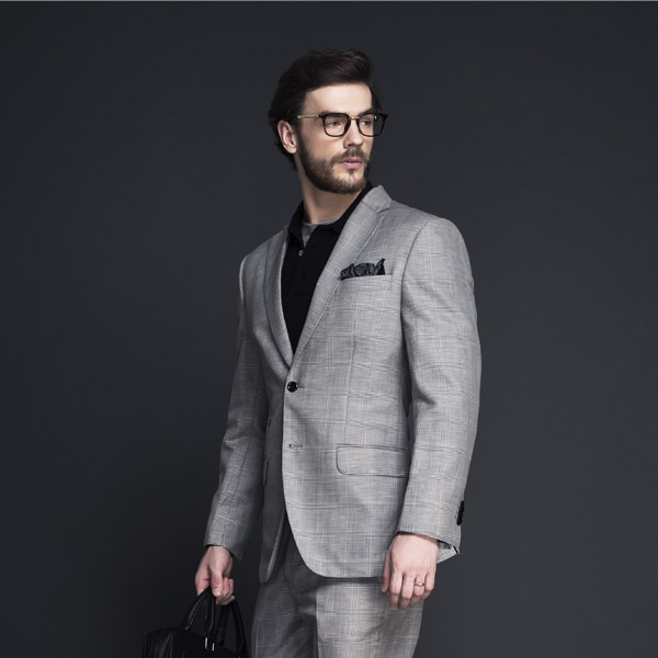 Oxford Grey Linen Checks Suit-mbview-4