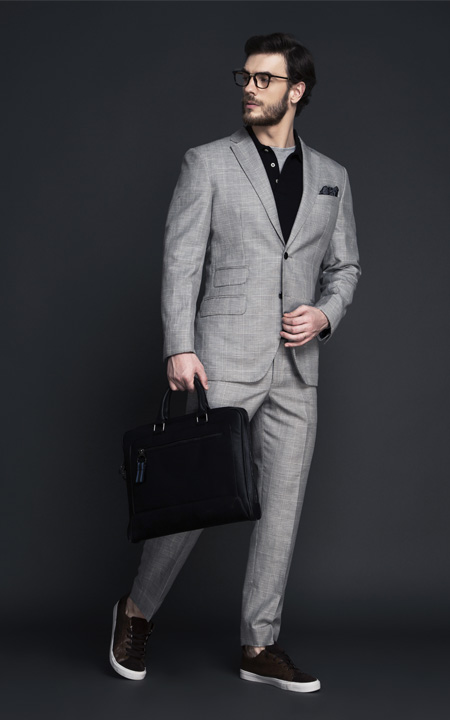 Oxford Grey Linen Checks Suit