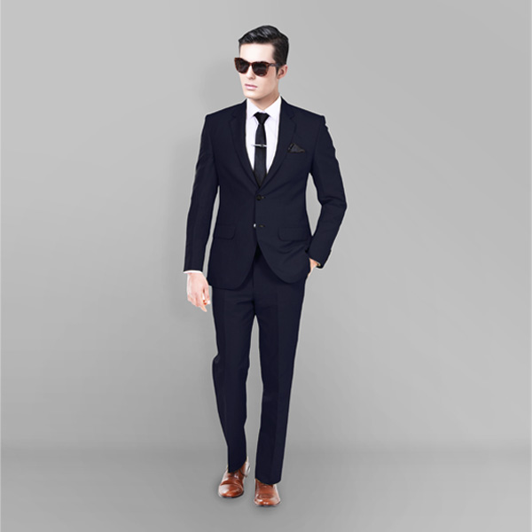 Presidential Navy Linen Suit-mbview-1