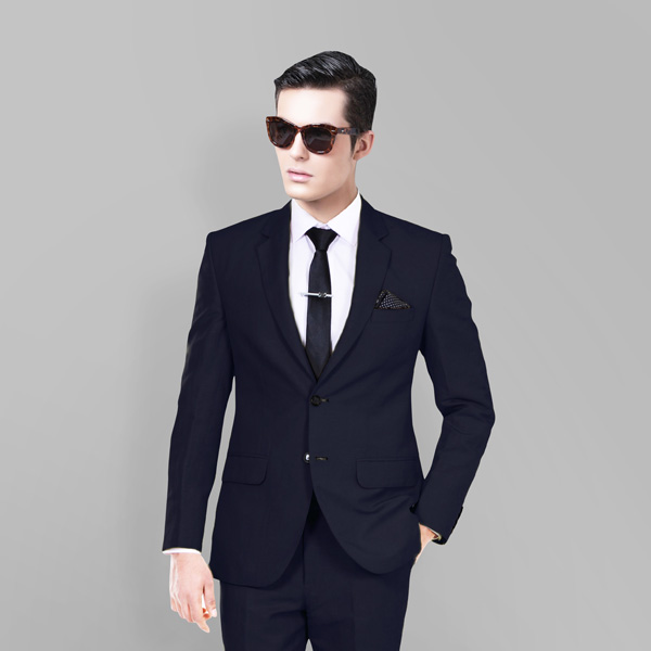 Presidential Navy Linen Suit-mbview-2