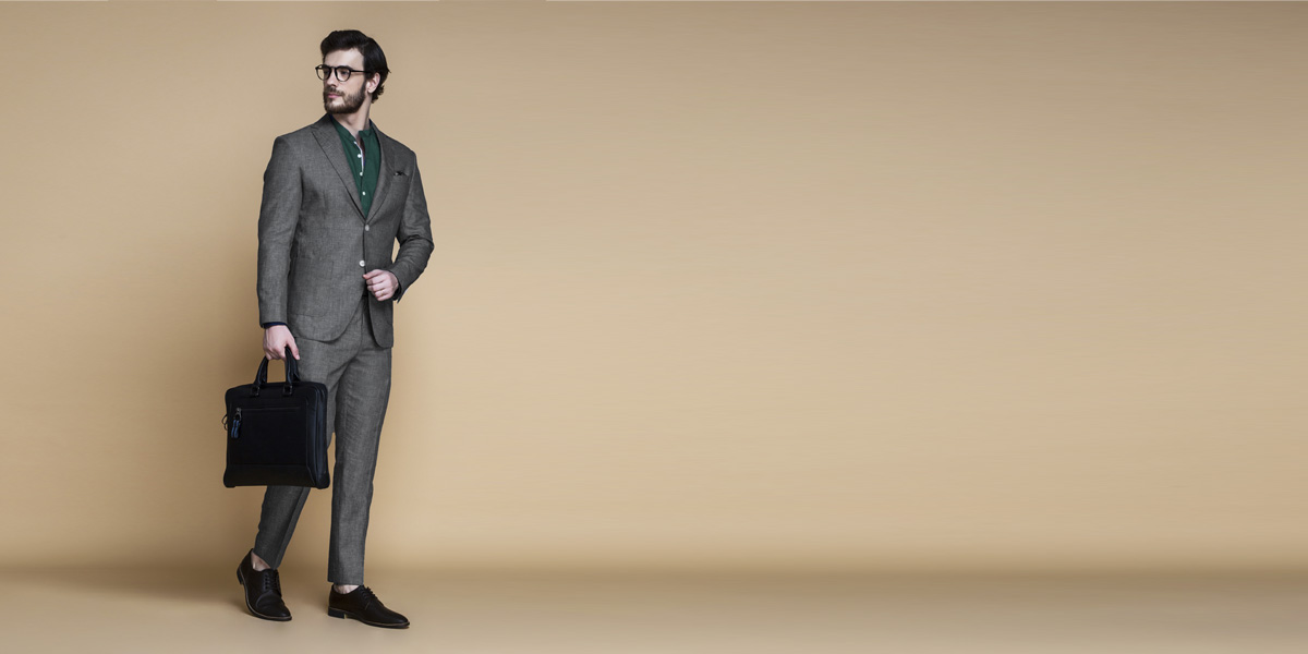 Irish Grey Linen Suit- view-1