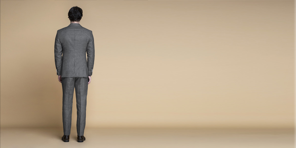 Irish Grey Linen Suit- view-2