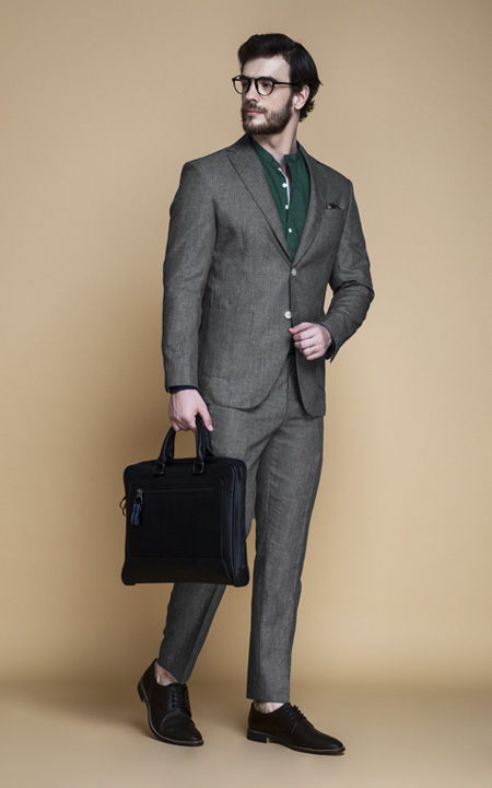 Irish Grey Linen Suit