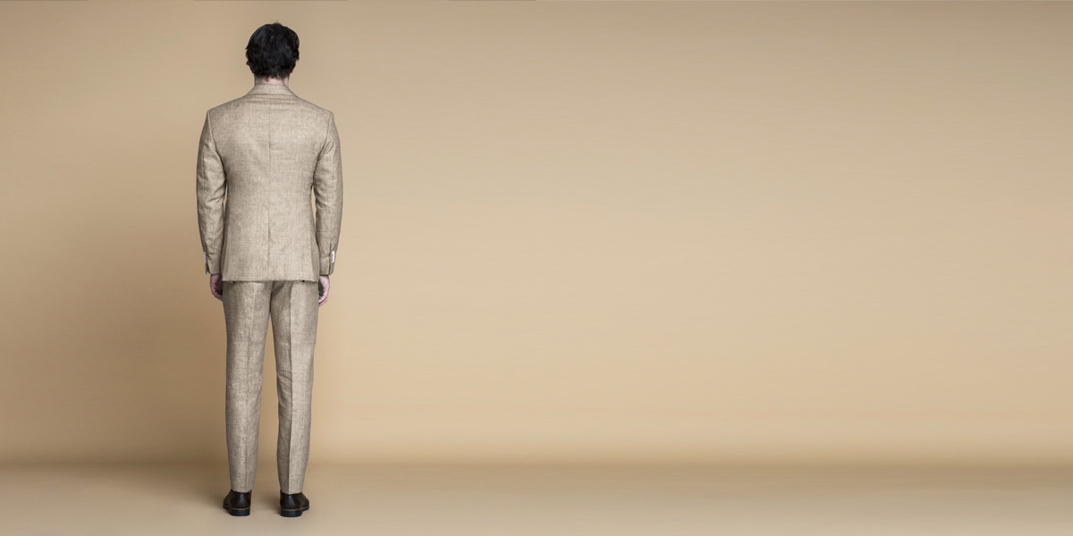 Khaki Brown Linen Suit- view-2