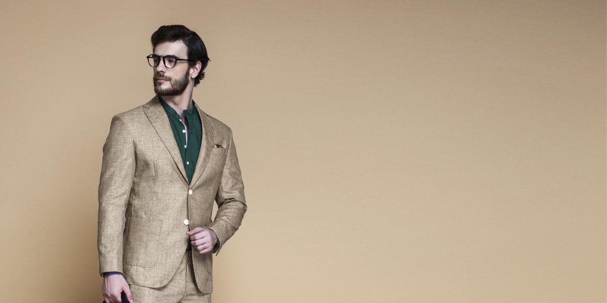 Khaki Brown Linen Suit- view-3