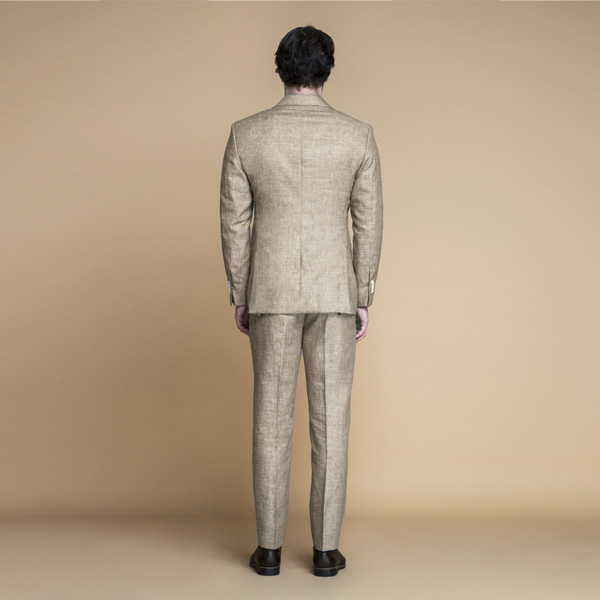 Khaki Brown Linen Suit-mbview-2