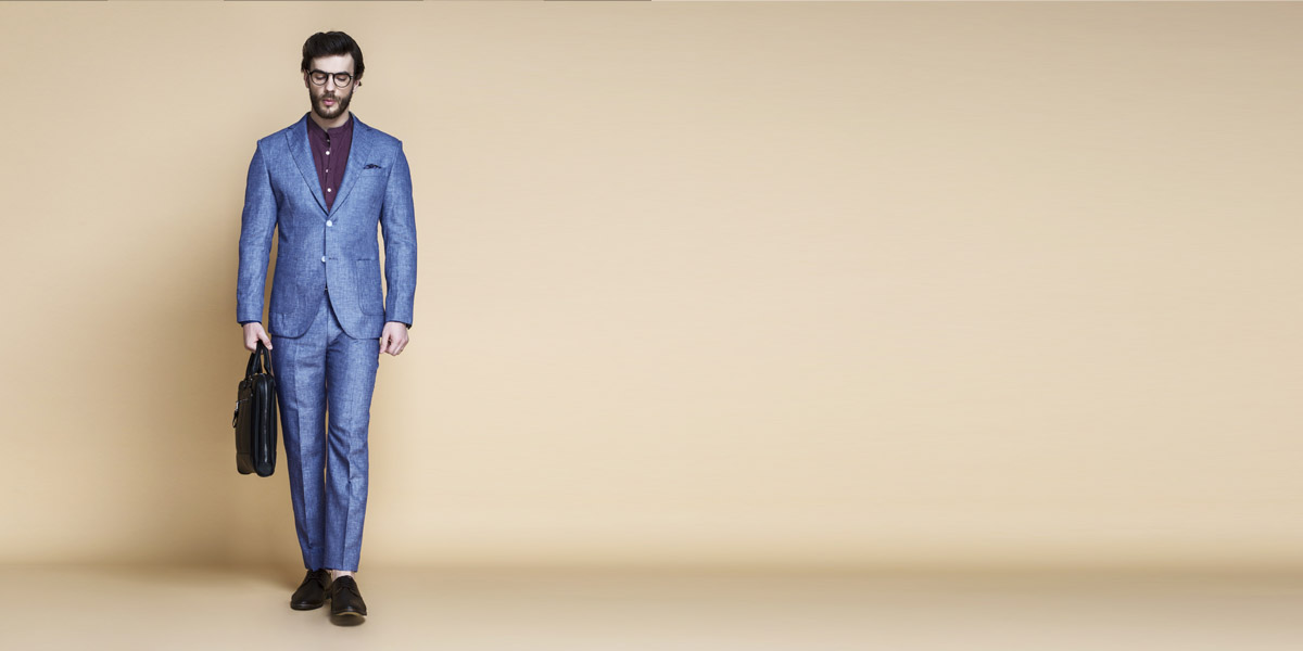 Newport Blue Linen Suit- view-1