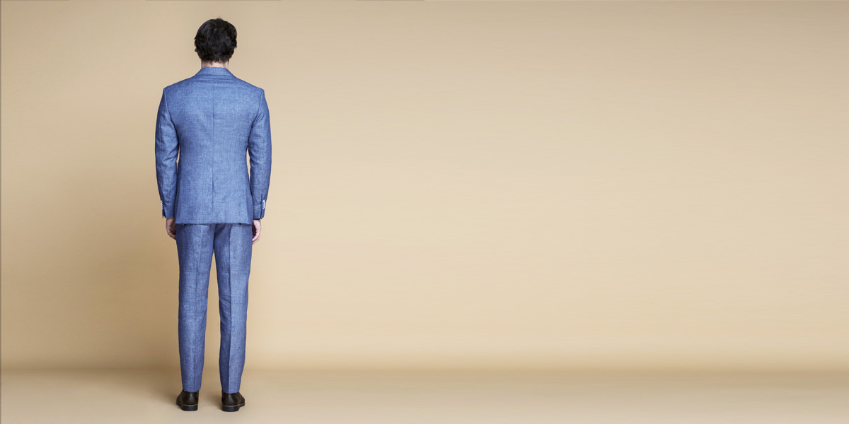 Newport Blue Linen Suit- view-2
