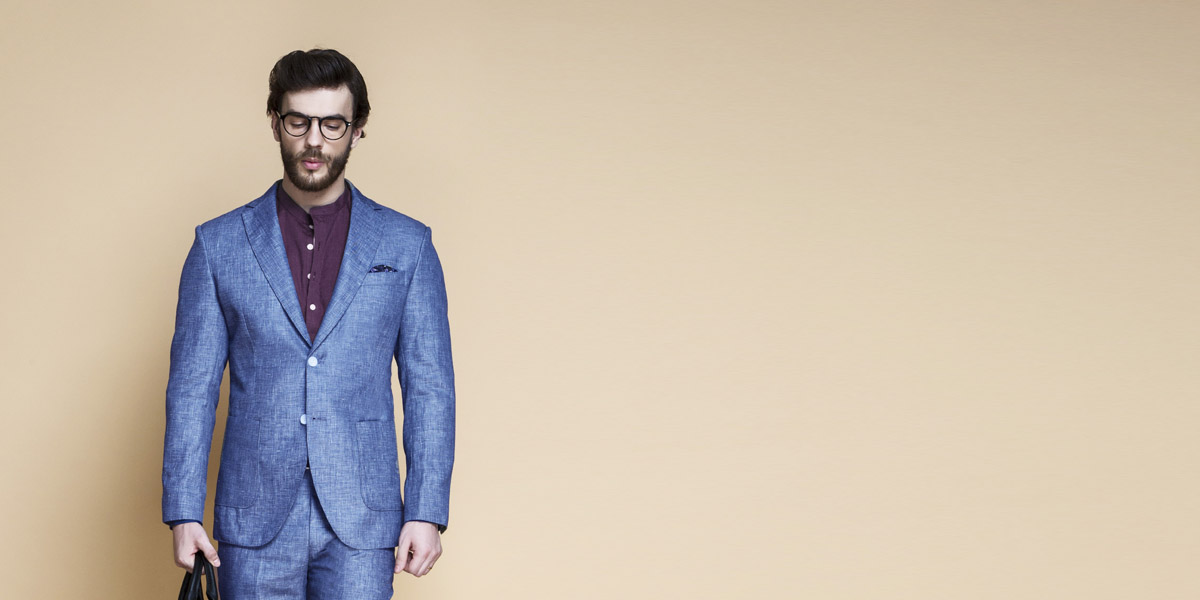 Newport Blue Linen Suit- view-3