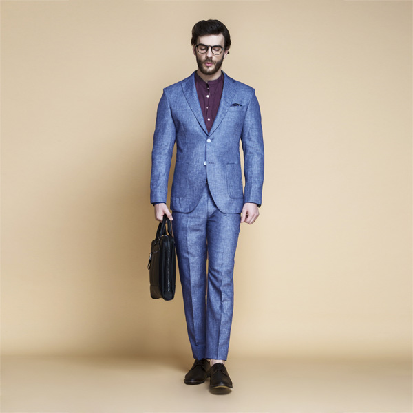 Newport Blue Linen Suit-mbview-1