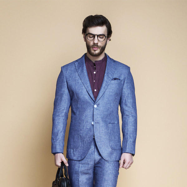 Newport Blue Linen Suit-mbview-3