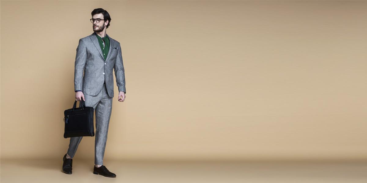 Pastel Grey Linen Suit- view-1