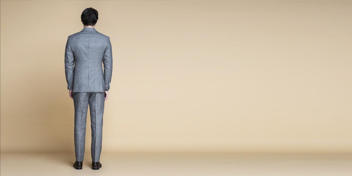 Pastel Grey Linen Suit- view-2