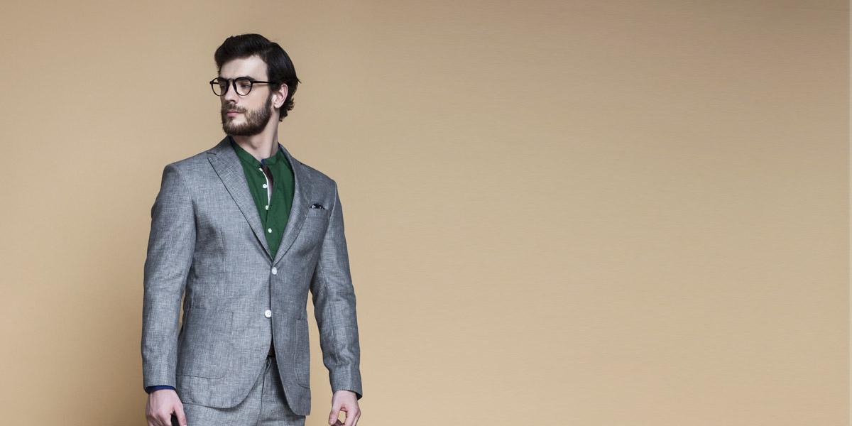 Pastel Grey Linen Suit- view-3