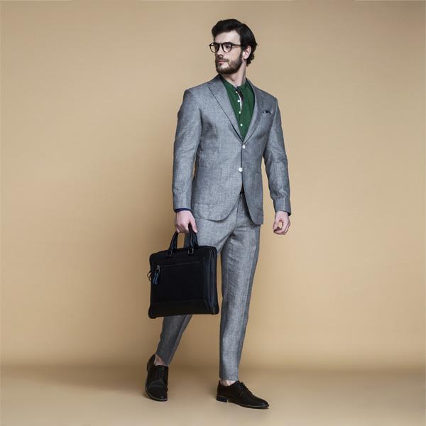 Pastel Grey Linen Suit-mbview-1