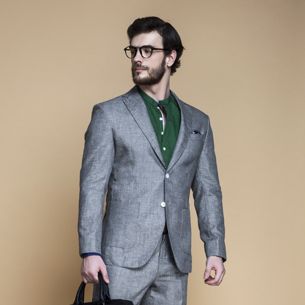 Pastel Grey Linen Suit-mbview-3