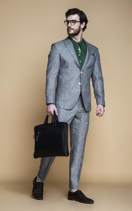 Pastel Grey Linen Suit
