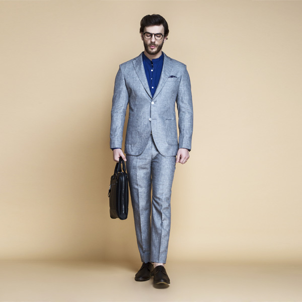 Viennese Grey Linen Suit-mbview-1