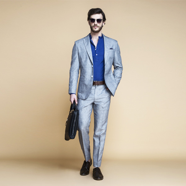 Viennese Grey Linen Suit-mbview-4