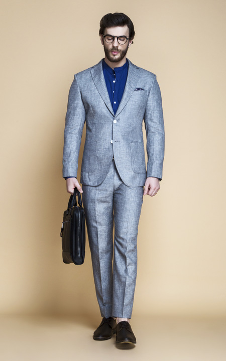 Viennese Grey Linen Suit